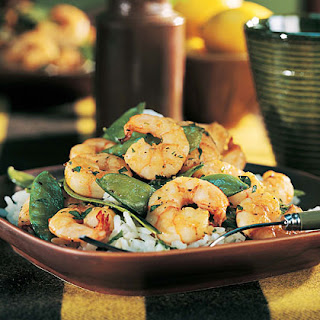 Shrimp and Snow Pea Stir-Fry.