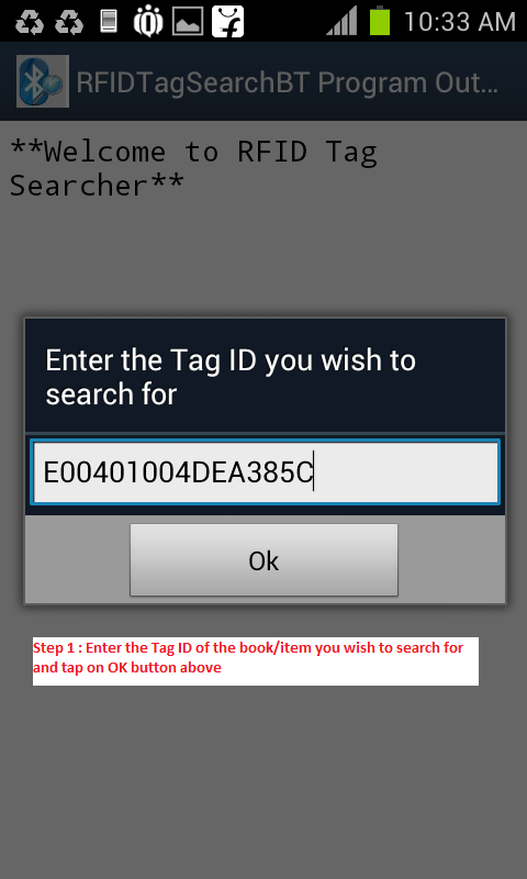 RFID Tag Search BT- screenshot