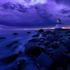 Hvaler lighthouse by Patrick Janson - Landscapes Waterscapes ( water, hvaler, waterscape, lighthouse, long exposure )