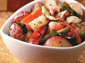 Elegant Roasted Potatoes With Veggies Recipe