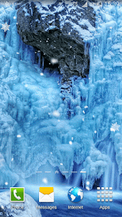 Frozen Waterfall HD Wallpaper 1