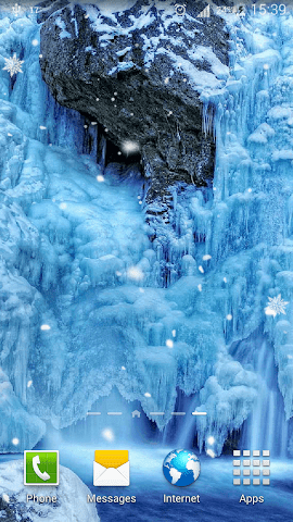 android Frozen Waterfall HD Wallpaper Screenshot 0