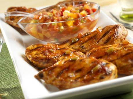 Chicken 'n Peaches Picante Recipe