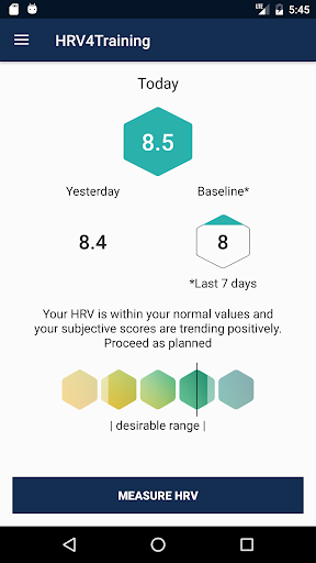 HRV4Training screenshot 1