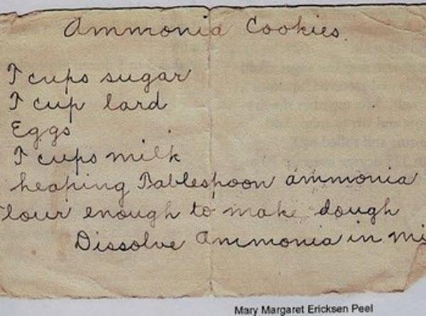 Ammonia Cookies Recipe
