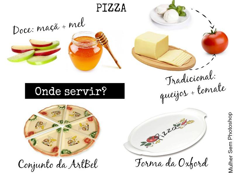 Comidinhas e louças de inverno - Pizza