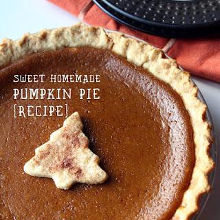 Sweet Homemade Pumpkin Pie