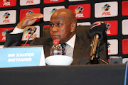 Mr Kaizer Motaung addresses media during PSL Special Board of Governors at Emperors Palace, Johannesburg on 20 September 2018.