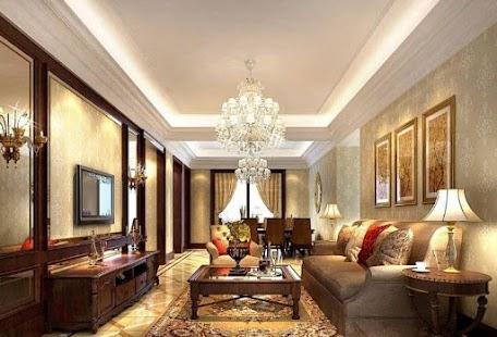 luxury living room design - android apps on google play
