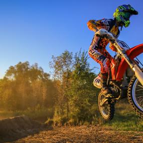 Evening Flight by Kenton Knutson - Sports & Fitness Motorsports ( motocross, moto, dirt, jump,  )
