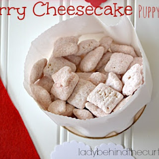 Cherry Cheesecake Puppy Chow