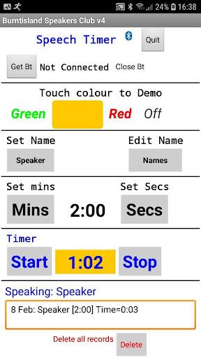 Speech timer software