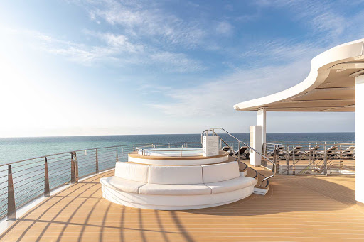Soak in a whirlpool during a break from the action on your Silver Origin sailing.