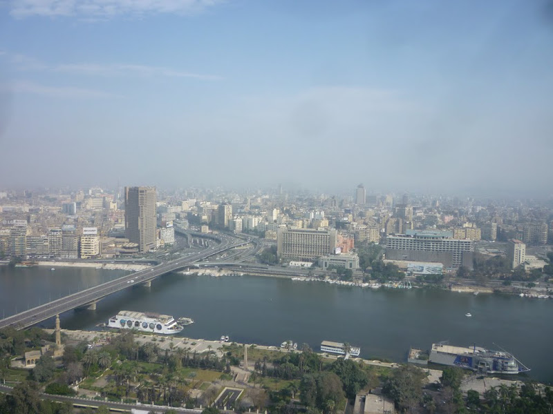 Photo: Looking NW from Cairo Tower down onto the 6 October bridge.