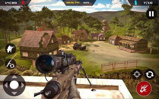 Sniper Ghost Commando Warrior - Jungle Survival APK MOD – ressources Illimitées (Astuce) screenshots hack proof 1