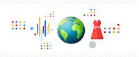 Illustration abstraite d'un globe terrestre et de symboles de la mode