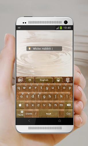玩免費個人化APP 下載蓬松的兔子 GO Keyboard app不用錢 硬是要APP