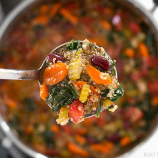 Garden Vegetable Quinoa Soup.