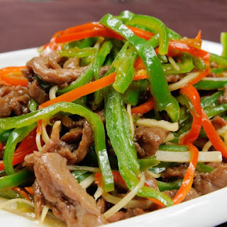 Pressure Cooker Chinese Pepper Steak