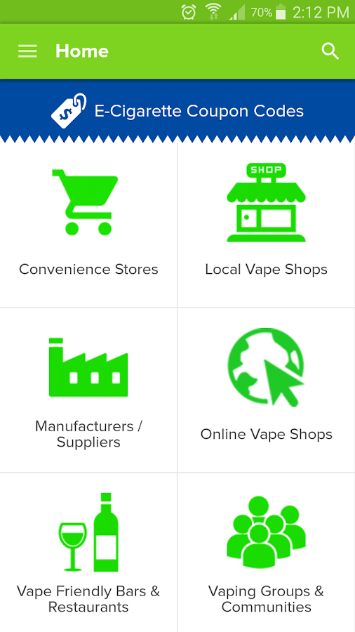 E-Cigarette / Vape Directory- screenshot