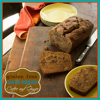 Gluten Free Date Bread With Coffee And Ginger.