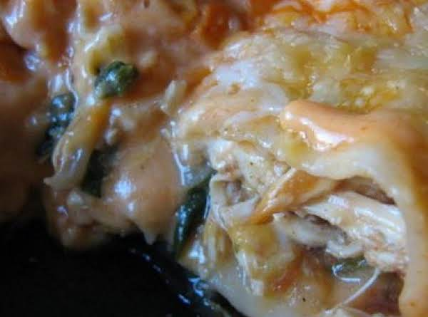 Creamy & Cheesy Chicken Enchiladas