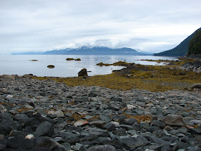 Photo: View northward up Stephens Passage from my campsite in Sand Bay.
