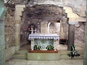 Photo: Gruta bajo la basílica de la Anunciación