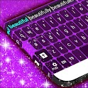Purple Keyboard GO Theme