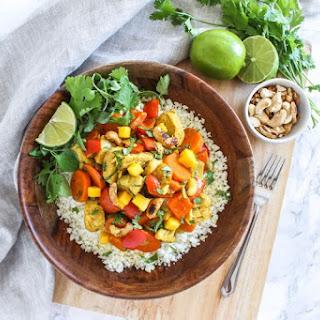 Coconut Mango Chicken Curry.
