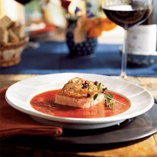 Broiled Salmon with Roasted Tomato Sauce