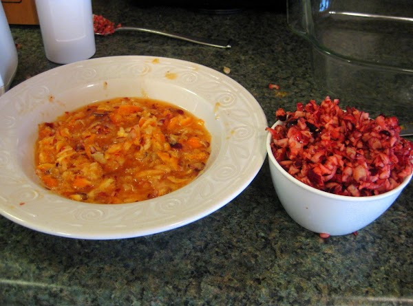 Grandma's Notes:Chop up the pecans first before getting blender wet. Or you could just...
