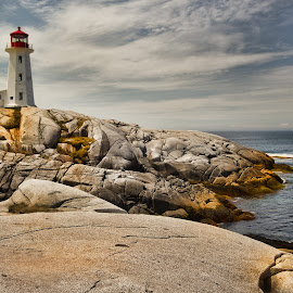 Peggys Cove by Carl Chalupa - Buildings & Architecture Public & Historical ( lighthouse, peggys cove, nova scotia,  )