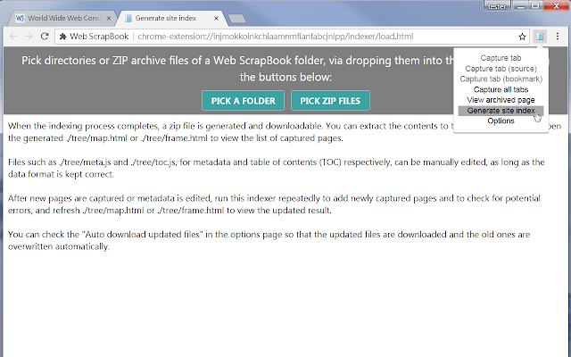 Web Scrapbook Chrome Web Store
