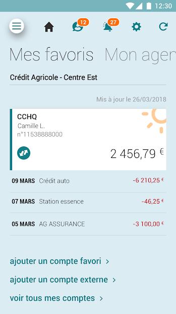 Ma Banque Android App Screenshot