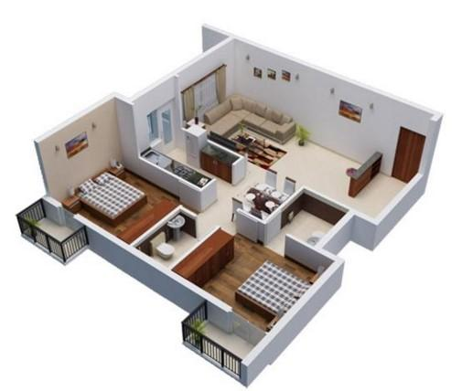 3Dホームデザインのアイデアプラン