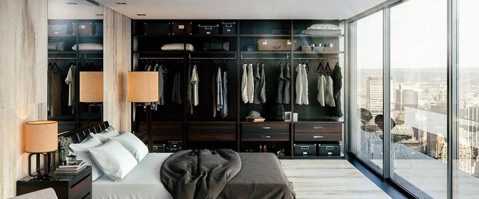 Thiết kế phòng thay đồ theo phong cách mở