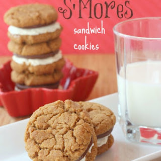 Flourless Peanut Butter Nutella S'Mores Sandwich Cookies