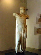 Photo: Marble Charioteer made by a Greek artist found on Motya island, Sicily, c440BC