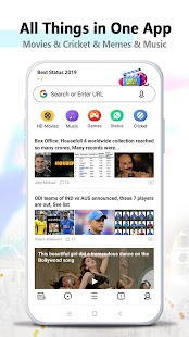 UC Browser- Fast Video Downloader & 24h News App Screenshot