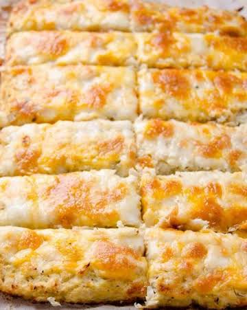 Amazing Cheesy Cauliflower Breadsticks