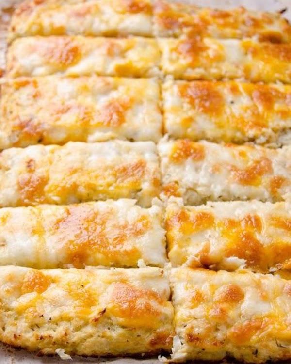 Amazing Cheesy Cauliflower Breadsticks Recipe