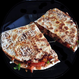 Balsamic Chicken and Cheese Quesadilla