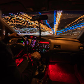 deadpool mobile by Duane Vosika - Abstract Light Painting ( red, driving, light, light painting, light trails, long exposure, drive )