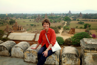 Photo: The whole area is a UNESCO World Heritage site.  I am at the Shwesandaw Pagoda, built by King Anawrahta in 1057.