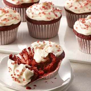 Red Velvet Cream Filled Cupcakes.