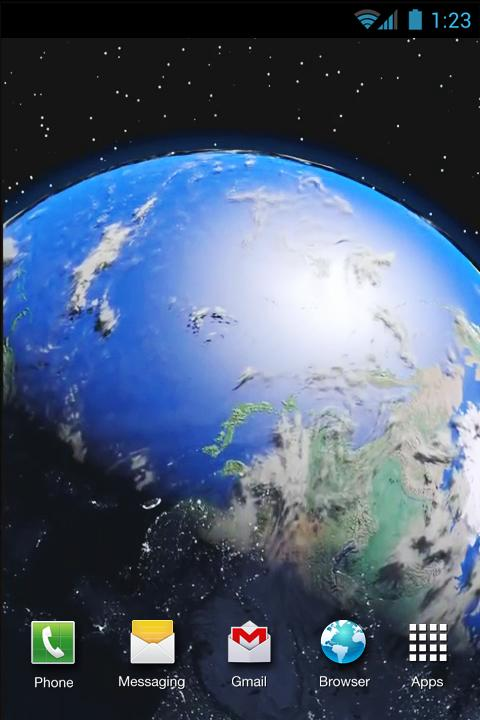 earth in space live wallpaper android apps on google play