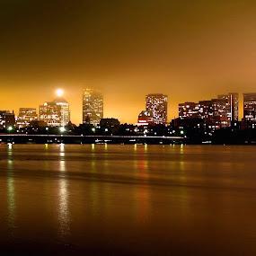 Boston, MA by Jerzy Szablowski - City,  Street & Park  Skylines