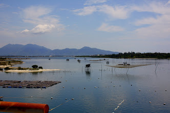 Photo: Year 2 Day 18 -  Fishing Net and Mountain Scenery