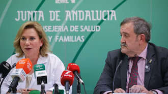 Inmaculada Salcedo, portavoz del grupo de seguimiento, y el director de Salud Pública, José M. de Torres